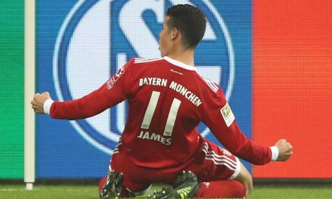 James Rodriguez lần đầu nổ súng, Bayern tạm lên đỉnh Bundesliga