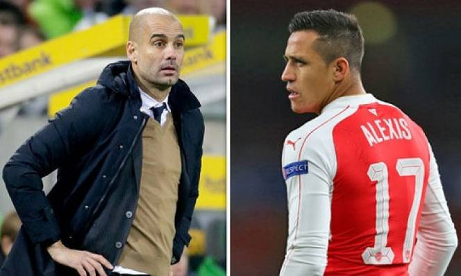 Pep gọi điện riêng thuyết phục Alexis Sanchez đến Man City