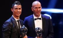 Làm nên lịch sử tại Champions League, Zidane nhận giải HLV xuất sắc nhất thế giới