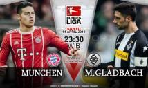 Nhận định Bayern Munich vs M'gladbach, 23h30 ngày 14/4 (Vòng 30 giải VĐQG Đức)