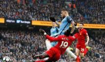 Aguero nổ súng, Man City vẫn không thể đánh bại Liverpool trên sân nhà