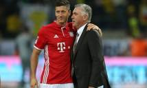 Ancelotti phủ nhận tin đồn mâu thuẫn, chặn đường Lewandowski đến M.U