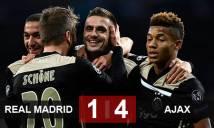 Real 1-4 Ajax (chung cuộc 3-5): Đánh sập pháo đài Bernabeu