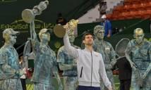 Nole ăn mừng 'siêu dị' sau khi giành cúp Qatar Open 2017