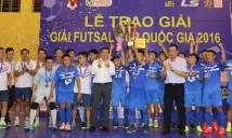 Đánh bại Hải Phương Nam Phú Nhuận, Thái Sơn Nam lên ngôi tại futsal cúp QG 2016