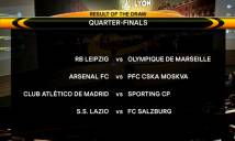 Kết quả bốc thăm tứ kết Europa League: Lộ diện đối thủ của Arsenal
