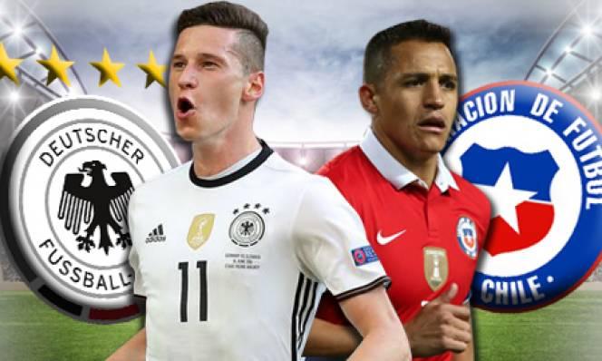 Đức vs Chile, 01h00 ngày 23/06: Đại chiến ngôi đầu