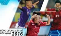 10 tài năng trẻ ấn tượng của bóng đá Việt Nam năm 2016