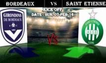 Bordeaux vs Saint-Etienne, 23h00 ngày 07/02: Hòa là vui