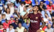 Getafe 1-2 Barcelona: Messi mờ mịt,
