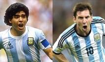 Huyền thoại Argentina vẫn chê Messi kém xa Maradona