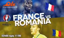 [Infographic] Pháp vs Romania: Công phá thành trì