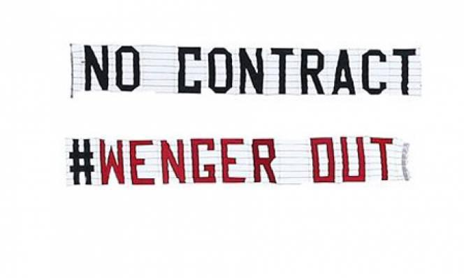 Tiết lộ điều bất ngờ về biểu ngữ 'Wenger Out'