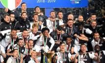 Gia đình Ronaldo đến chúc mừng anh và Juventus ăn mừng chức vô địch Serie A