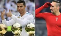 Ribery tuyên bố Ronaldo không xứng giành Quả Bóng Vàng 2013