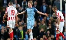 Hàng công bế tắc, Man City bất lực trước Stoke City