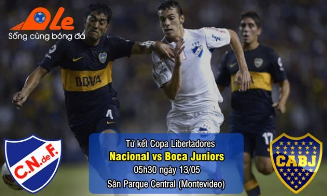 Nacional vs Boca Juniors, 05h30 ngày 13/05: Khó khăn trên đất khách
