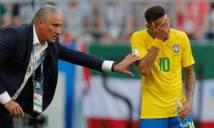 Đổ lỗi cho thủ môn Courtois, HLV Tite quyết không rời ghế nóng Brazil