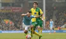 Hòa Norwich, Man City tung cờ trắng trong cuộc đua vô địch