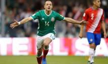 Chicharito san bằng kỉ lục ghi bàn của huyền thoại Mexico