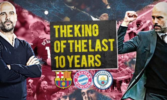 10 năm: Pep là ông vua danh hiệu, Mou chỉ đứng thứ 3