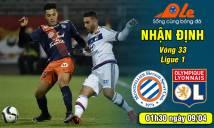 Montpellier vs Lyon, 01h30 ngày 09/04: Sư tử có báo được thù?