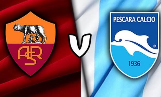 Roma vs Pescara, 02h45 ngày 28/11: Không có cơ hội