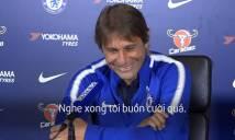 Conte cười rung ghế khi được hỏi về những cáo buộc của Diego Costa nhắm vào minh