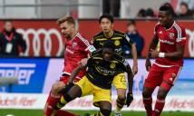 Dortmund hòa hú vía Ingolstadt trong trận cầu mưa bàn thắng