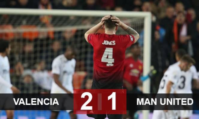 Valencia 2-1 M.U: Tội đồ Phil Jones phá nát Quỷ đỏ
