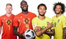 Trực tiếp Brazil vs Bỉ, 1h ngày 7/7