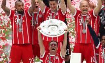 CHÙM ẢNH: Thầy trò Ancelotti tắm bia trong ngày đăng quang Bundesliga