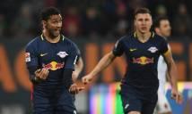 Chia điểm với Augsburg, Leipzig hụt hơi trong cuộc đua với Bayern