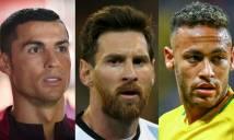 FIFA công bố đề cử giải 'The Best': Neymar sẽ vượt mặt Ronaldo và Messi?