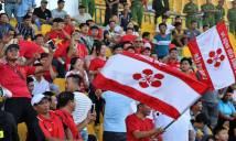 Bất chấp lệnh cấm, CĐV Hải Phòng vẫn 'phủ đỏ' sân Cần Thơ