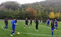Tuyển VN tập nhẹ trước trận đấu cuối cùng ở Hàn Quốc