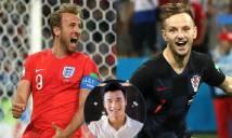 Thủ môn Bùi Tiến Dũng sang Nga trao giải Cầu thủ hay nhất trận Anh vs Croatia