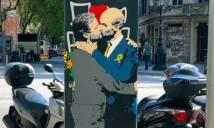HÀI HƯỚC: tranh cãi trên sân, Mourinho và Pep 'hôn môi thắm thiết' ở ngoài đời