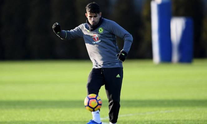Costa trở lại tập luyện sau khi làm lành với Conte