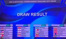 Bốc thăm giải U20 Futsal châu Á 2017: Việt Nam rơi vào bảng tử thần