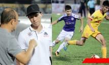 Nhìn Hà Nội bị Nam Định đè bẹp dí, thầy Park vội vàng lao ngay xuống sân an ủi cầu thủ này
