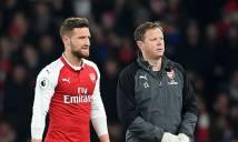 Sao Arsenal lỡ trận gặp Southampton vì chấn thương đùi
