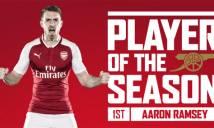 Arsenal công bố giải cầu thủ xuất sắc nhất mùa: cái tên bất ngờ