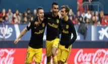 Thế trận một chiều, Atletico Madrid dễ dàng đè bẹp chủ nhà Osasuna