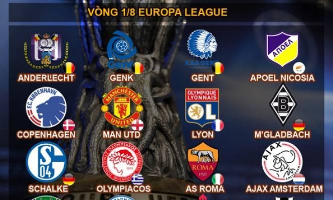 Kết quả bốc thăm vòng 1/8 Europa League: MU chạm trán kẻ gián tiếp 'giết' Arsenal