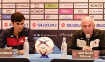 """HLV Eriksson: """"Không việc gì phải sợ Singapore"""""""