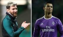 Cuộc đua 'Mái tóc vàng' 2017: Messi hít khói Ronaldo
