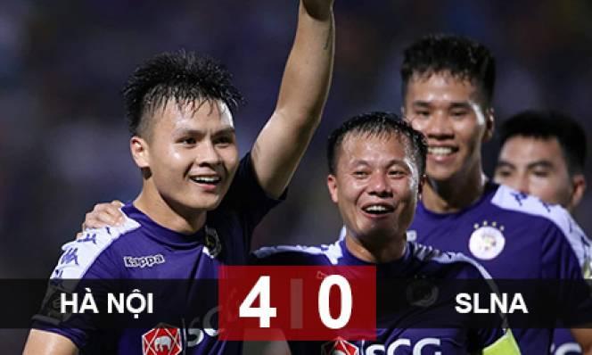 Hà Nội FC 4-0 SLNA: Quang Hải nổ súng, Hà Nội FC trở lại ngôi đầu V.League