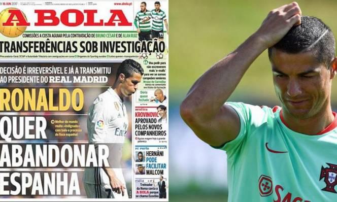 Trước tâm bão rời Real, Ronaldo hành động cực lạ khiến Fan ngỡ ngàng
