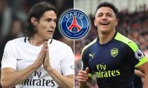 PSG tìm người thay Cavani, Arsenal và Man City'sốt sình sịch'